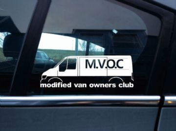 MVOC modified van owners club sticker - for Ford Transit van mk6